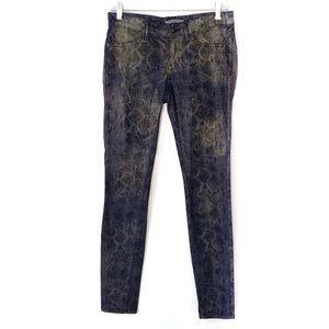 RICH & SKINNY. Snakeskin print skinny jeans.